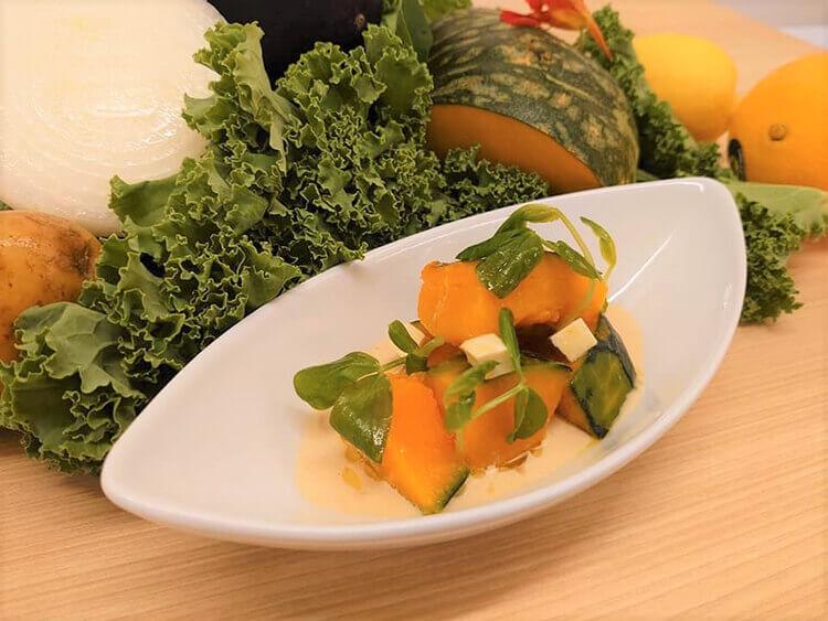 南瓜と豆苗のサラダ