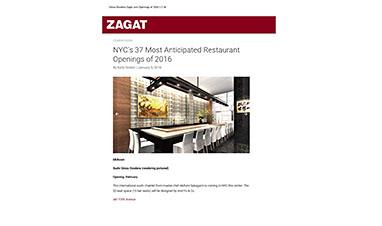 鮨 銀座おのでらが、NY版ZAGAT Onlineで紹介されました